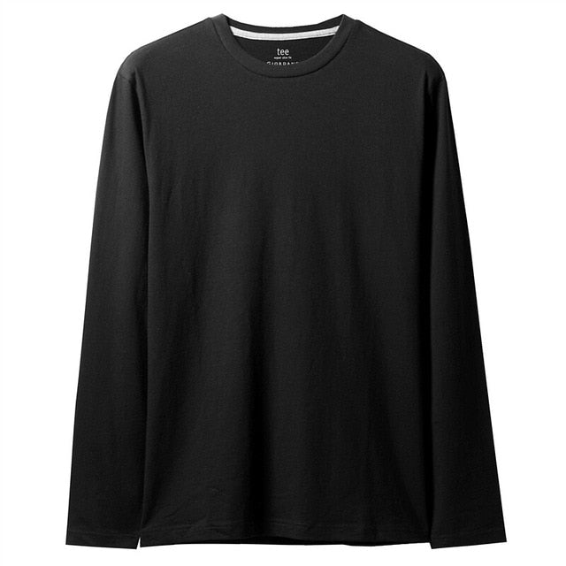 Giordano Men Tshirt Long Sleeve Tee Shirt Homme De Marque Solid T Shirt For Men 100% Cotton Camisetas Hombre Soft Men Clothes