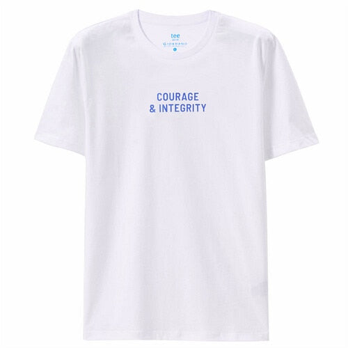 Giordano Men T Shirt Blue And White Summer Tops For Men Printed Letter Short Sleeve Tshirt Fashion Camiseta Hombre