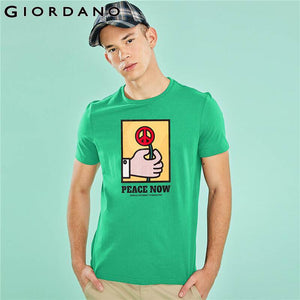 Giordano Men T-shirt Funny Graphic Crewneck Tee Shirt Homme Short Sleeve Summer Tops For Men Colorful Camiseta Masculina