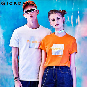 Giordano Men Tshirt Men Ribbed O Neck Short Sleeve Tee Shirt Men Print Letter Tops For Men Camiseta Hombre Casual Cool T-shirt