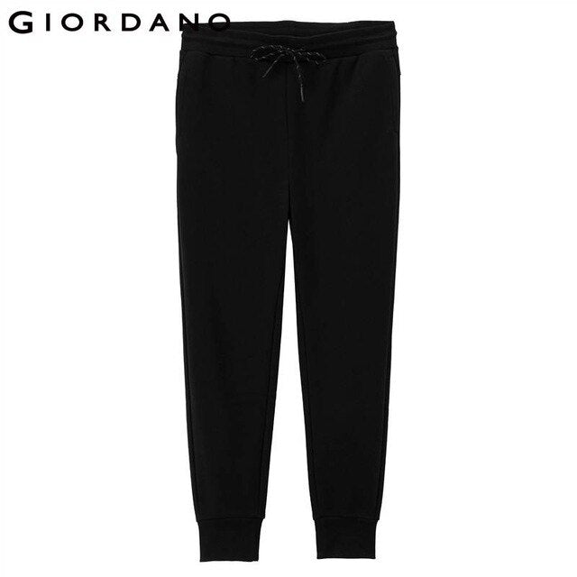 Giordano Women Jogger Pants Pile Coating Casual Pants Smooth Pantaloni Femmina Modern Slim Fit Ladies Solid Cotton Clothing