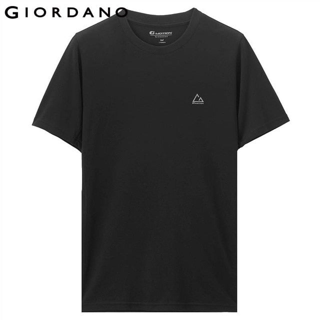 Giordano Men Fast Dry T Shirt Crewneck Summer Tee Shirt Homme Breathable Short Sleeve Tops Male Quality Mens Clothing