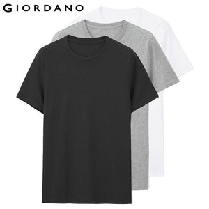 Giordano Men T Shirt Men Short Sleeves 3-pack Tshirt Men Solid Cotton Mens Tee Summer T Shirt Men Clothing Sous Vetement Homme