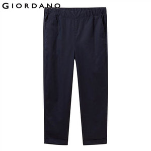 Giordano Women Pants Elastic Waistband Pants For Women Cropped Ladies Trousers Plain Pantalones Mujer Casual Calca Feminina