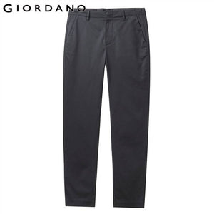 Giordano Men Pants Men Stretchy Winkle-free Slim Cutting Zip Closure Casual Pants Pocket Stylish Solid Pantalon Hombre