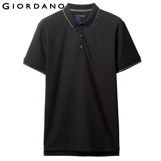 Giordano Men Solid Polo Shirt Men Pique Slim Mens Polo Basic Essential Tops Male Camisa Polo Camiseta Masculina
