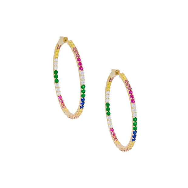 Orecchini cerchio multicolor - Lauren P. Jewels