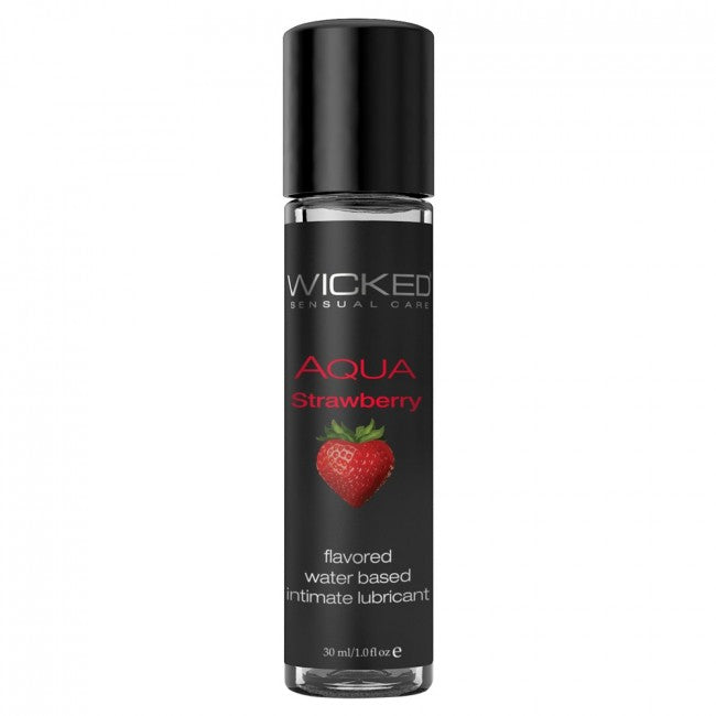 Wicked Transparent Lube 30ml - Strawberry
