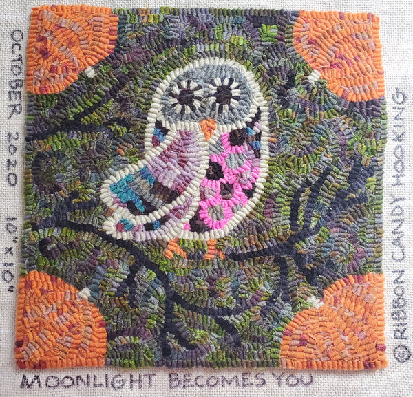 Rug Hooking Monthly Beginner October - Moonlight Becomes You -