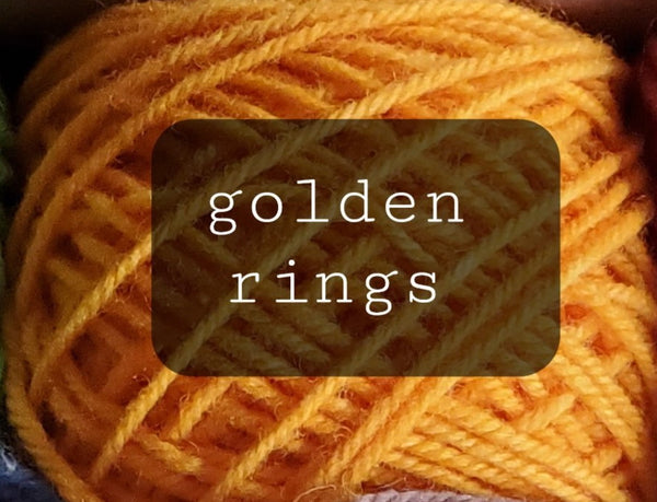 12 Days of Christmas Yarn: Five golden rings/85 yrd