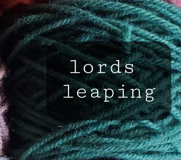 12 Days of Christmas Yarn: Ten lords a-leaping/85 yrd