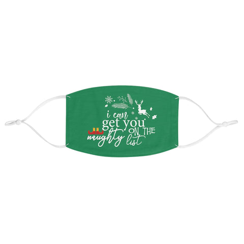 'Naughty List' Face Mask