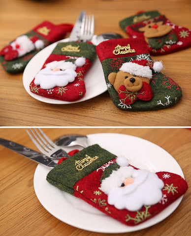 Christmas Pocket Cutlery Holder