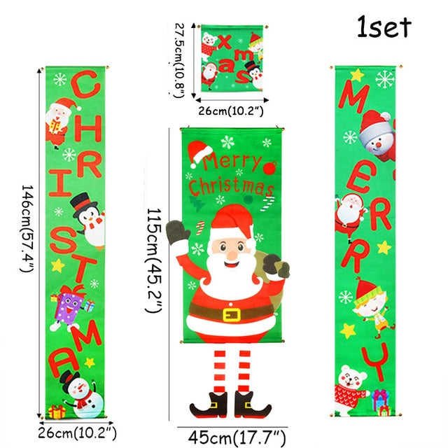 Christmas Door Decor Set