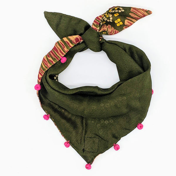 Green Silk Bandana