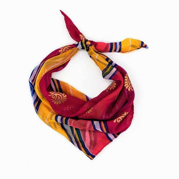 Multicolored Striped Bandana