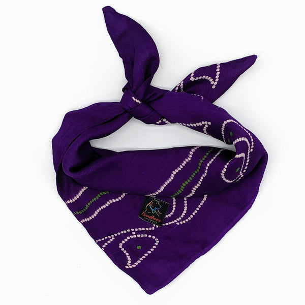 Purple Silk Bandana