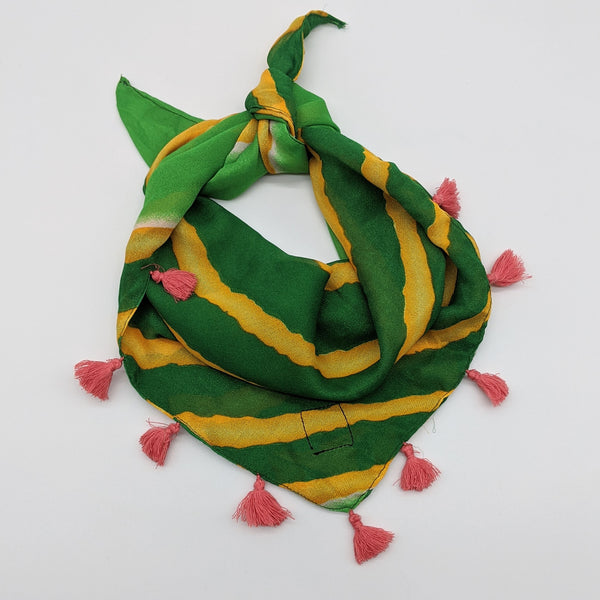 Sunshine Cabana Stripes Silk  Bandana