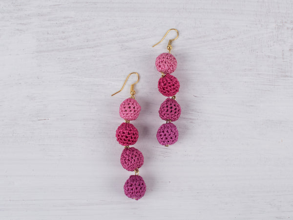 Pink Crochet Earrings