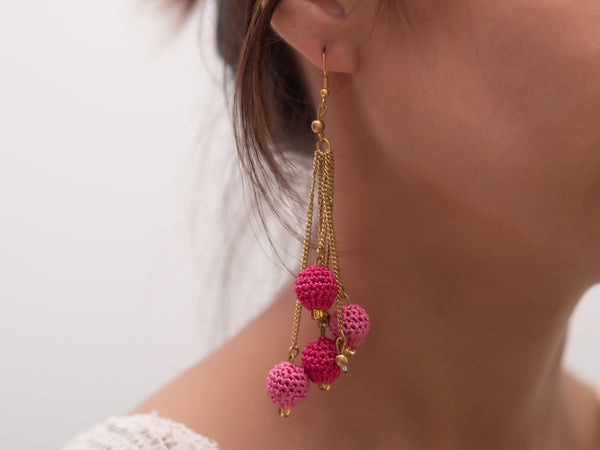 Droplet Crochet  Earrings