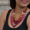 Multicolored Crochet Balls Layered Necklace