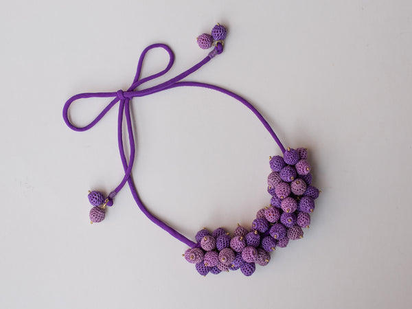 Blueberry Bouquet Necklace