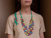 Multicoloured Crochet Layered Necklace