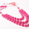 Fucia Crochet Layered Necklace