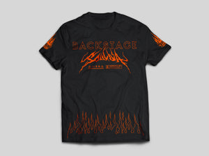 T-Shirt - SOULDIA BACKSTAGE FLAMES NOIR