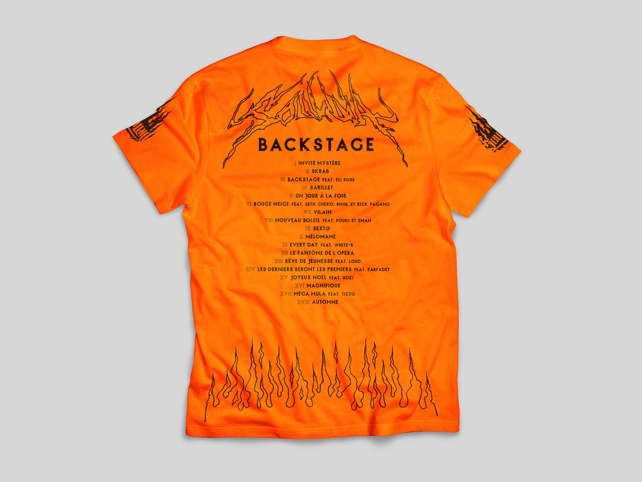 T-Shirt - SOULDIA BACKSTAGE FLAMES ORANGE