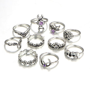 Women's Knuckle Rings Set
