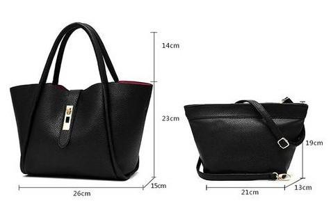 Casual Small Satchel with Detachable Inner Bag