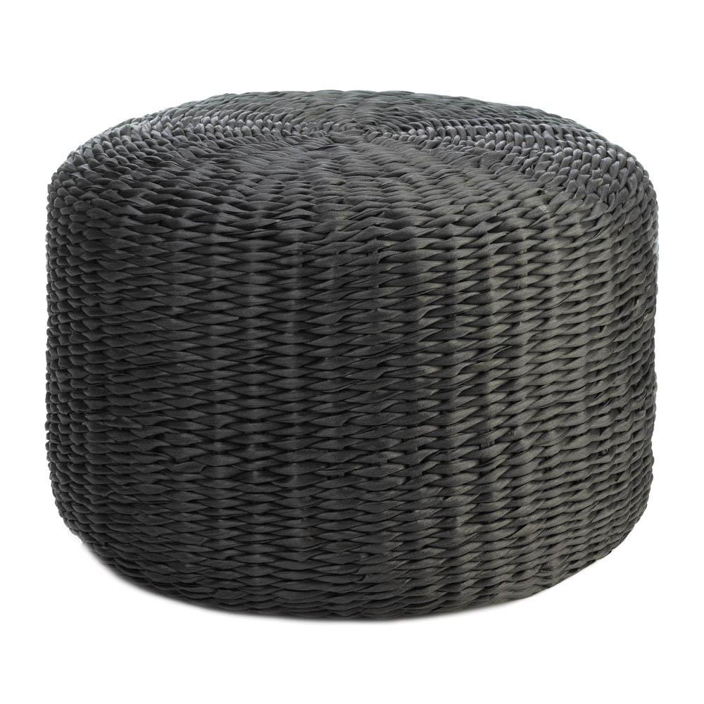 the-stock-mall - All-Weather Wicker Ottoman - Garden Decor