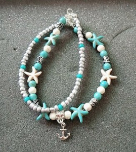the-stock-mall - Anklet Turtle Bracelet Beach Pendant Starfish Pearl Retro Turtle Anklet - Jewelry & Watches / Fashion Jewelry / Body Jewelry
