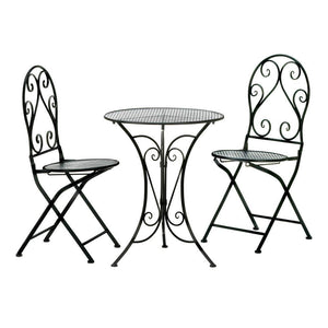 Beautiful Outdoor Iron Bistro Set - The Stock Mall