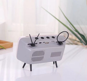 the-stock-mall - Classic TV Bluetooth Speaker Phone Holder - Consumer Electronics