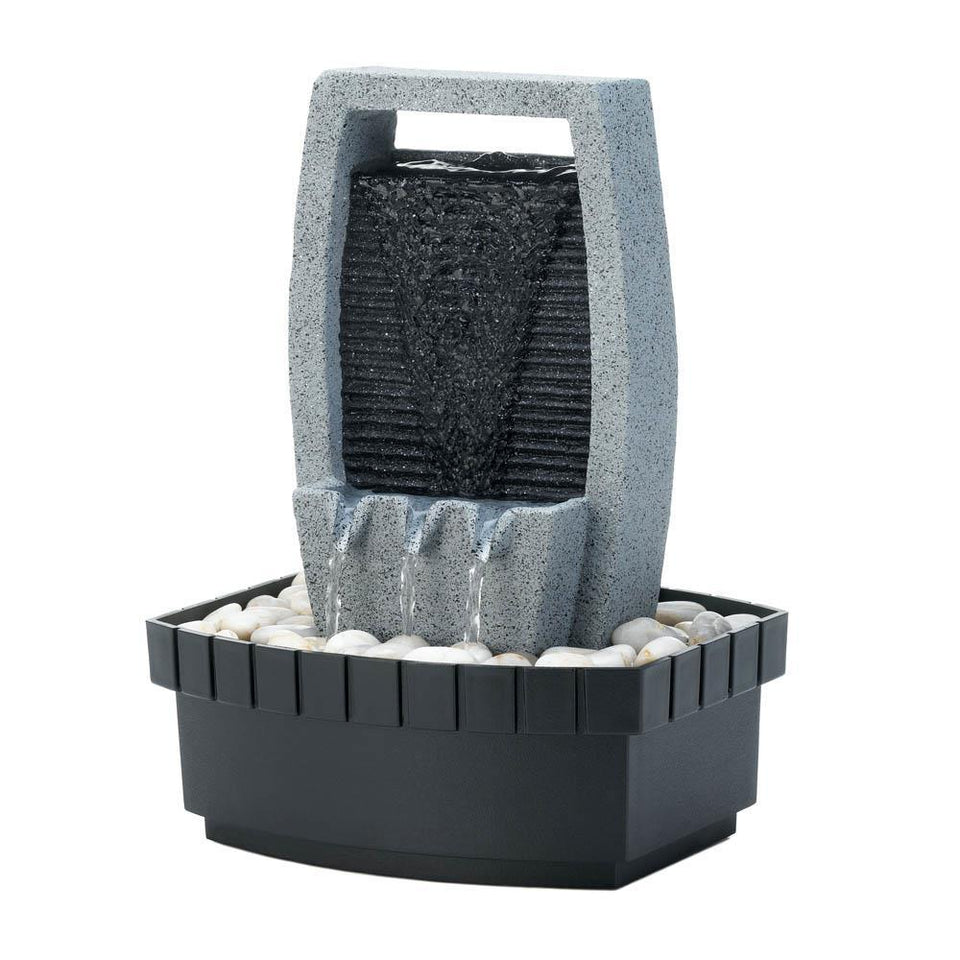 the-stock-mall - Classic Water Wall Tabletop Fountain - Garden Decor