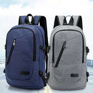 Fashion man laptop backpack usb charging computer backpacks casual style bag large male business travel bag backpack - The Stock Mall