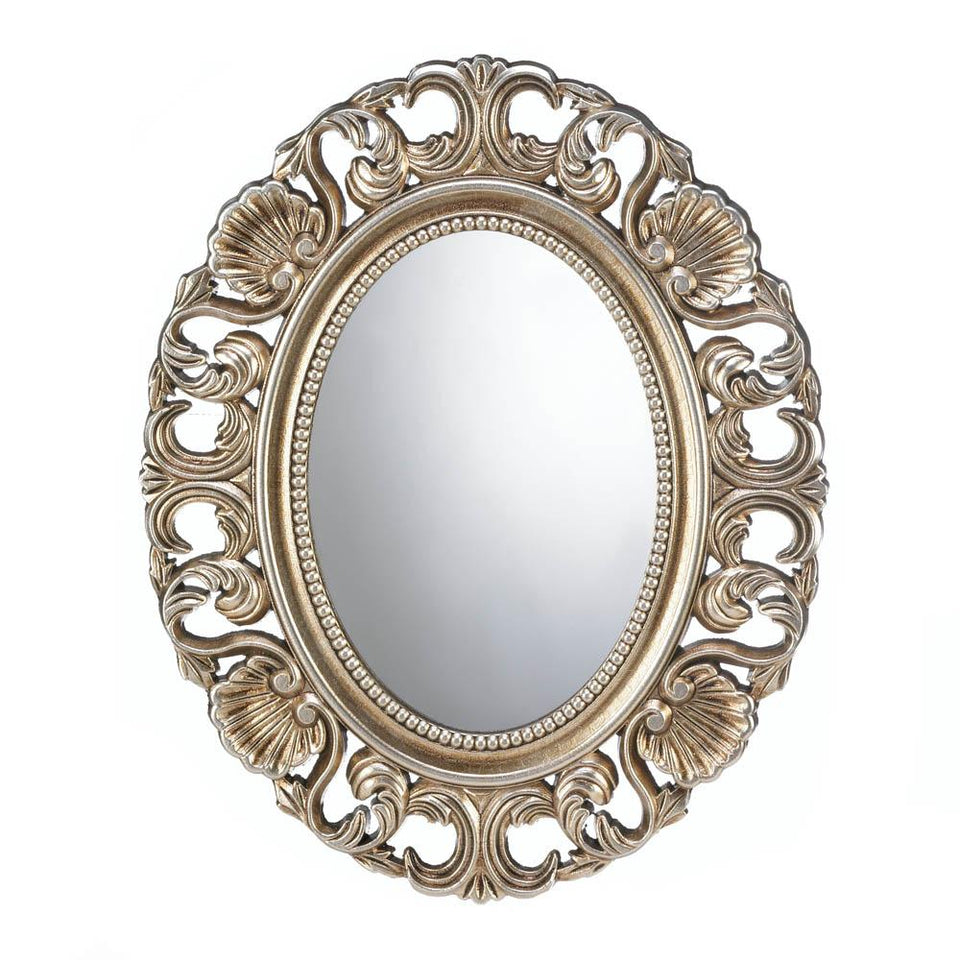 the-stock-mall - Gilded Oval Wall Mirror - Home Decor