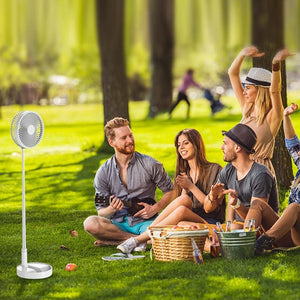 Outdoor Folding Fan, Multi-Function USB Charging, Adjustable Angle, Travel - The Stock Mall