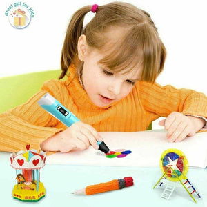 3D Printer Pen for Children with Different Color Filament (Ships from USA)