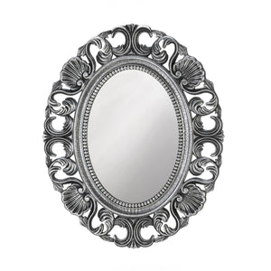 the-stock-mall - Silver Scallop Wall Mirror - Home Decor