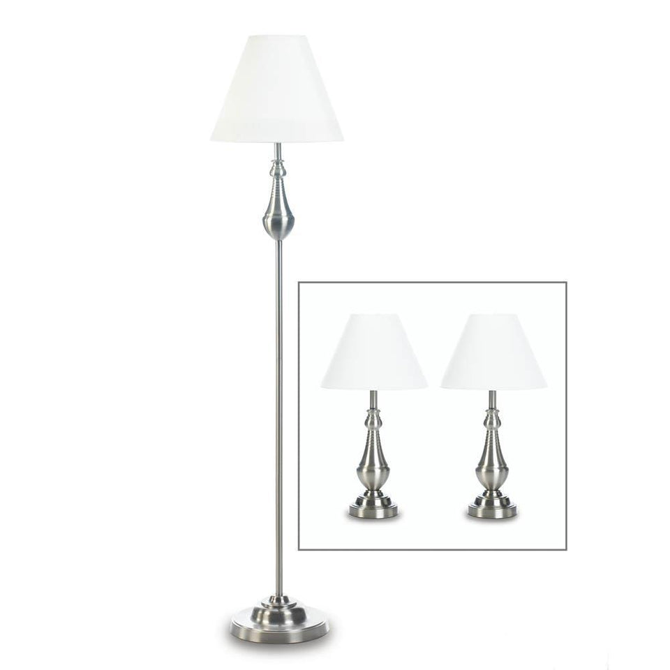 the-stock-mall - Turned High Polish Lamp Trio - Home Decor