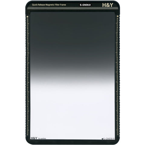 H&Y Filters 100 x 150mm K-Series Soft-Edge Graduated Neutral Density 0.9 Filter (3 Stops) w/Quick Release Magnetic Filter Frame - photosphere.sg