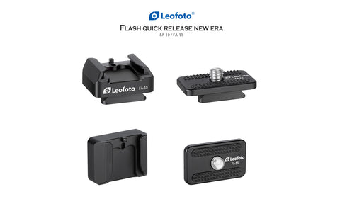 Leofoto FA-10 & FA-11 flash quick release system adapter - photosphere.sg