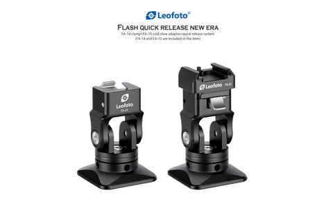 Leofoto FA-14 & FA-10 flash quick release system adapter - photosphere.sg