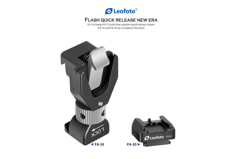 Leofoto FA-16 & FA-10 flash quick release system adapter - photosphere.sg