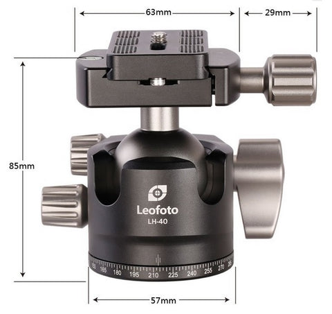 Leofoto LH-40 Low Profile Ball Head - photosphere.sg