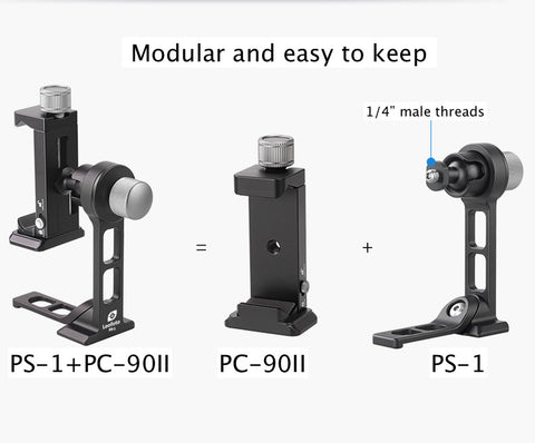 Leofoto Phone Stand and Clamp PS-1 + PC-90II - photosphere.sg