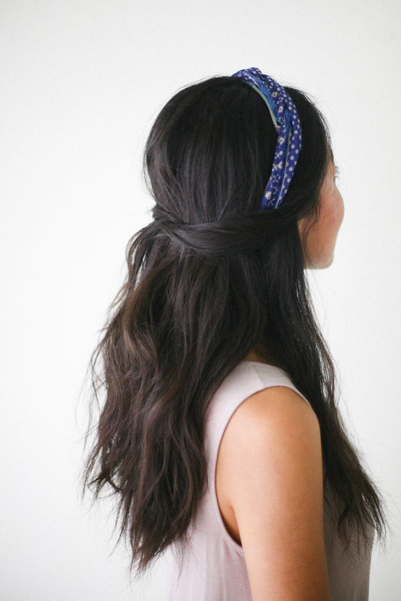 Dotted Light Blue Headwrap